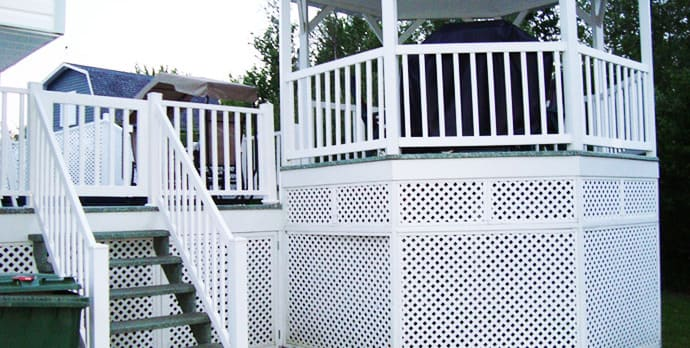 Fibre de verre sherbrooke galerie balcon patio et rampe d 39 escalier - Patio fibre de verre prix ...